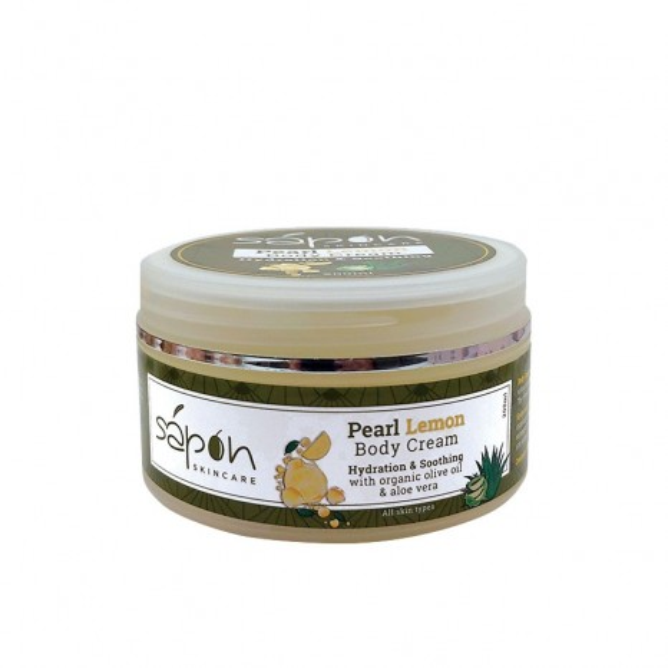 Sapon Skincare - Pearl Lemon Body Cream (200ml)