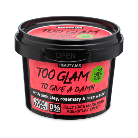 Beauty Jar TOO GLAM TO GIVE A DAMN Jelly Face Mask with Age-Delay Effect (120gr)