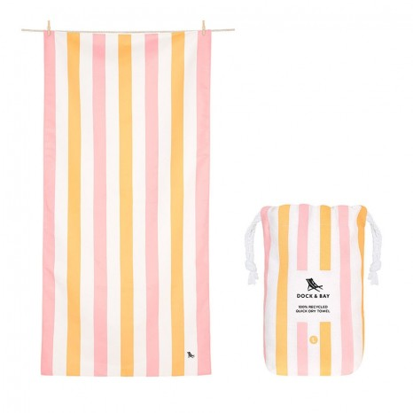 Dock & Bay Πετσέτα Θαλάσσης Quickdry Summer - Peach Sorbet