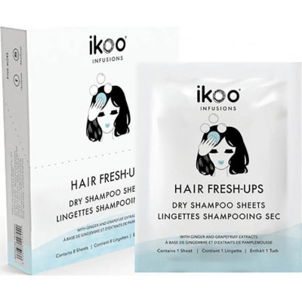 ikoo Ιnfusions Hair Fresh-Ups Dry Shampoo Sheets (8 φακελάκια)