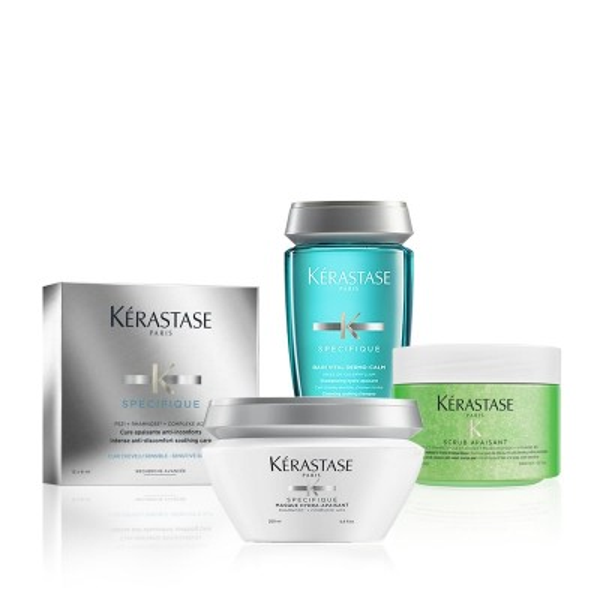 Kérastase Hair Spa at Home Bundle - Μέθοδος Περιποίησης για το Ευαίσθητο Τριχωτό
