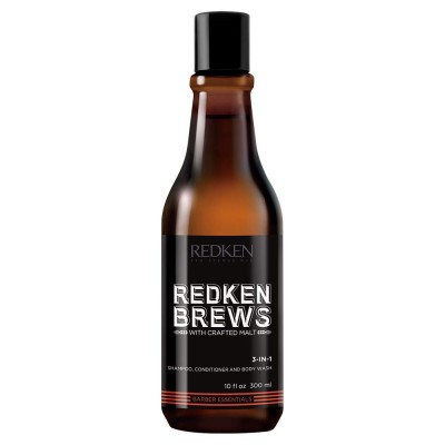 Redken Brews 3-in-1 Shampoo, Conditioner, Body Wash (300ml)