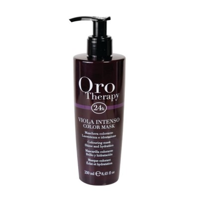Fanola Oro Therapy 24k Color Mask - Colouring Mask Shine & Hydration - Viola Intenso (250ml)