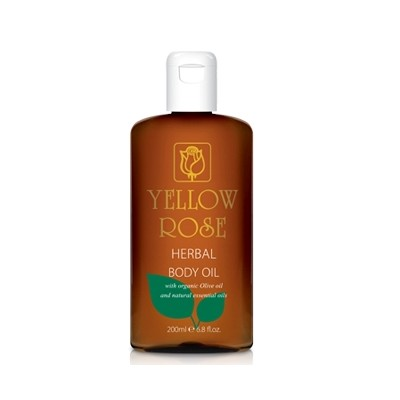 Yellow Rose Herbal Body Oil (200ml)