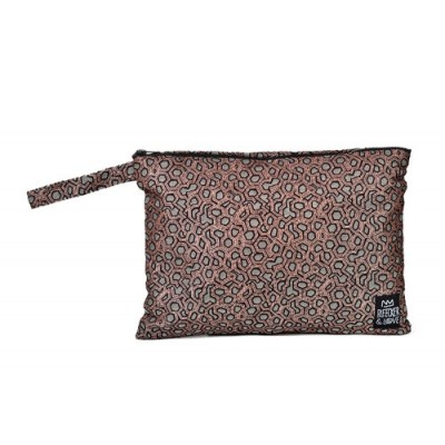 Bleecker & Love Woven Bag Bronze Metallic Small