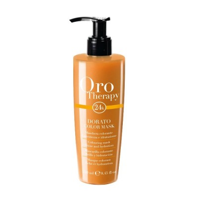 Fanola Oro Therapy 24k Color Mask - Colouring Mask Shine & Hydration - Dorato (250ml)