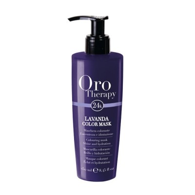 Fanola Oro Therapy 24k Color Mask - Colouring Mask Shine & Hydration - Lavanda (250ml)