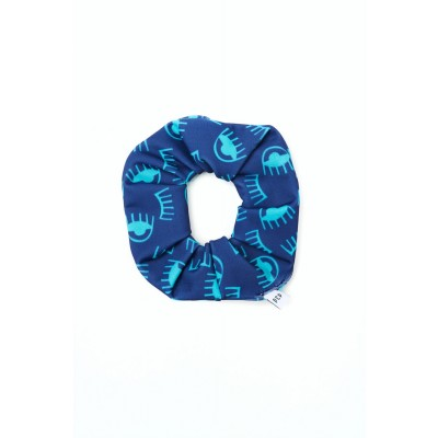 PCP Eyelids Blue Scrunchie