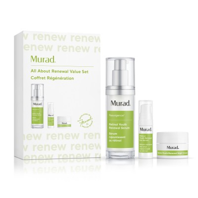 Murad All About Renewal Value Set (Renewal Serum 30ml, Eye Serum 7,5ml, Night Cream 5ml)