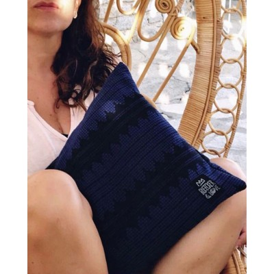 Bleecker & Love Woven Bag SoundWaves Blue Small